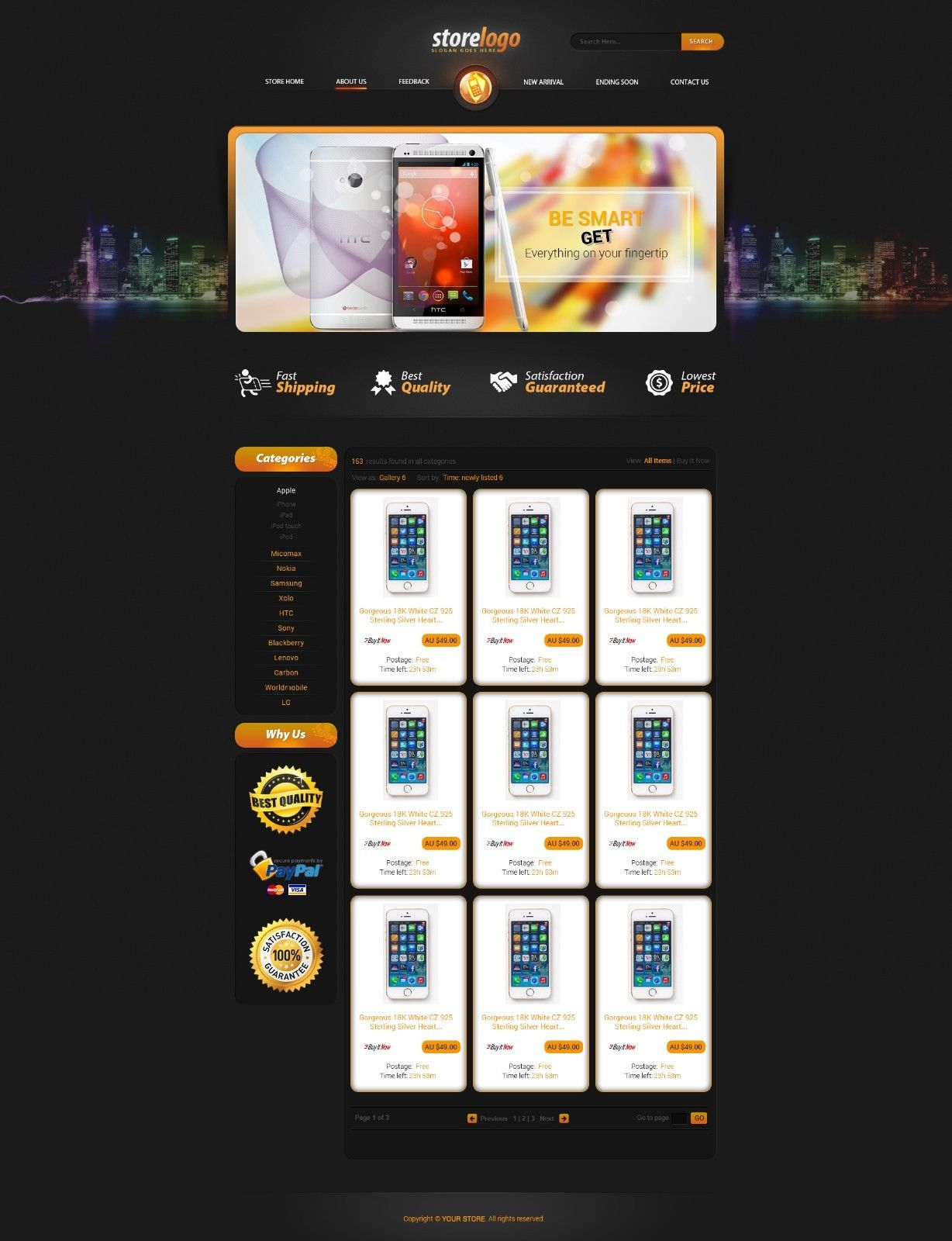 Free Html Ebay Template How To Use Free Template Html IArtois - Free ebay templates html download