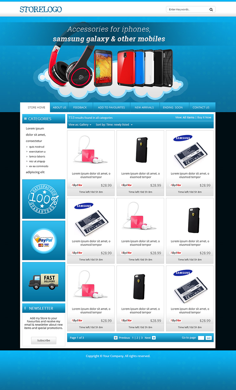 Advance ebay shop listing auction html templates free for Free ebay store templates