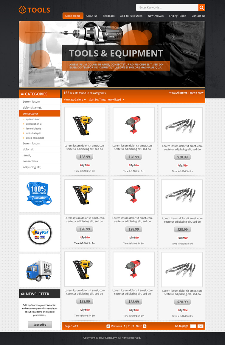 free ebay templates html download - professional ebay shop listing auction html templates