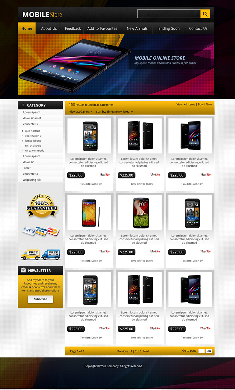 Ebay store design auction listing template professional shop package ebay for Ebay store templates free