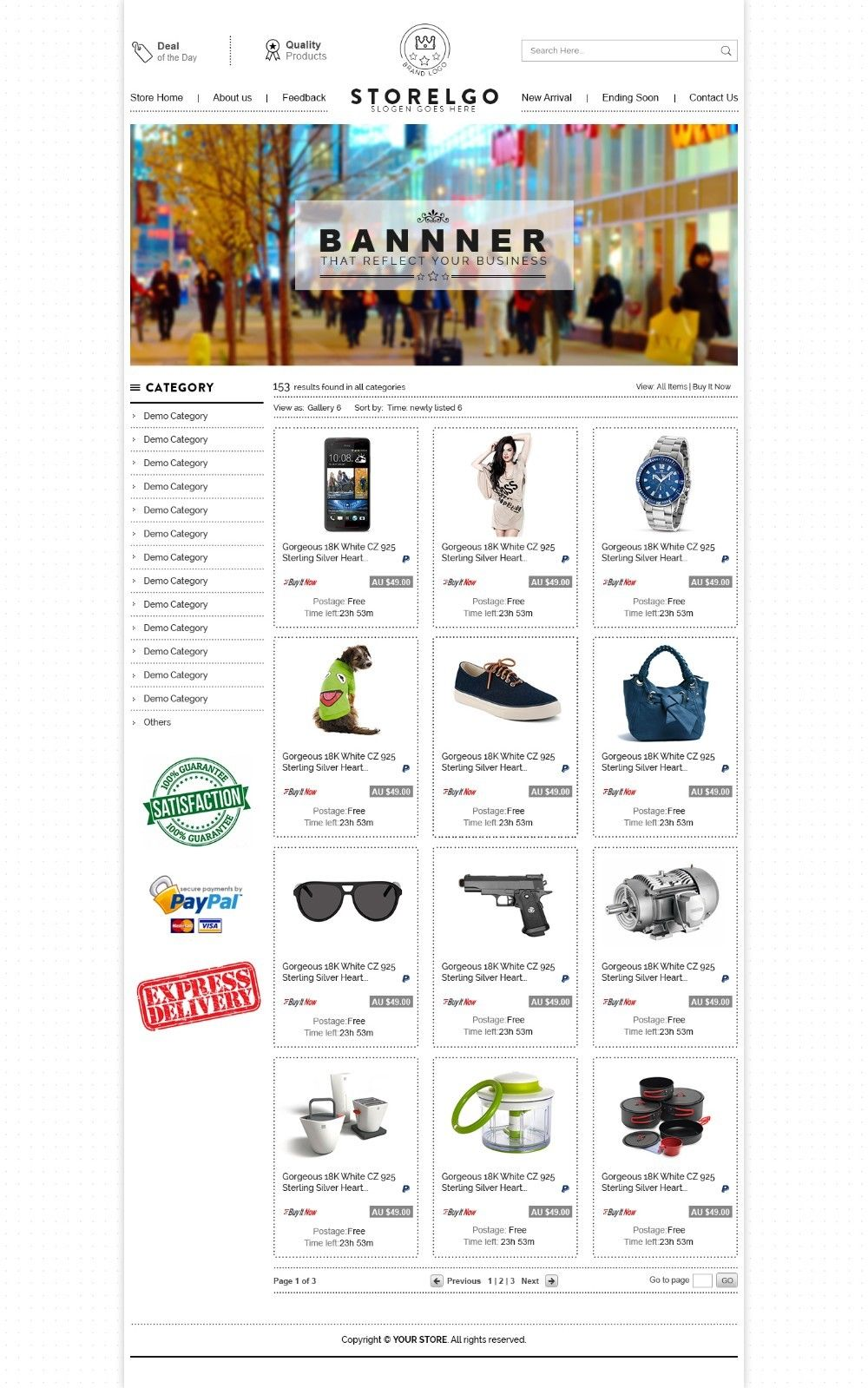 Fine ebay storefront templates free pictures inspiration example resume ideas alingaricom for Ebay listing templates free