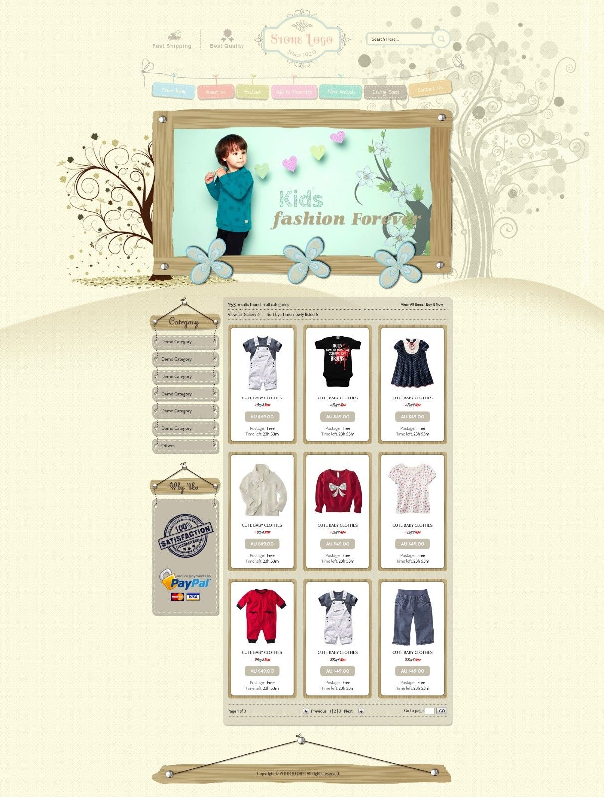 Advance ebay shop design templates and listing auction for Ebay store design templates free