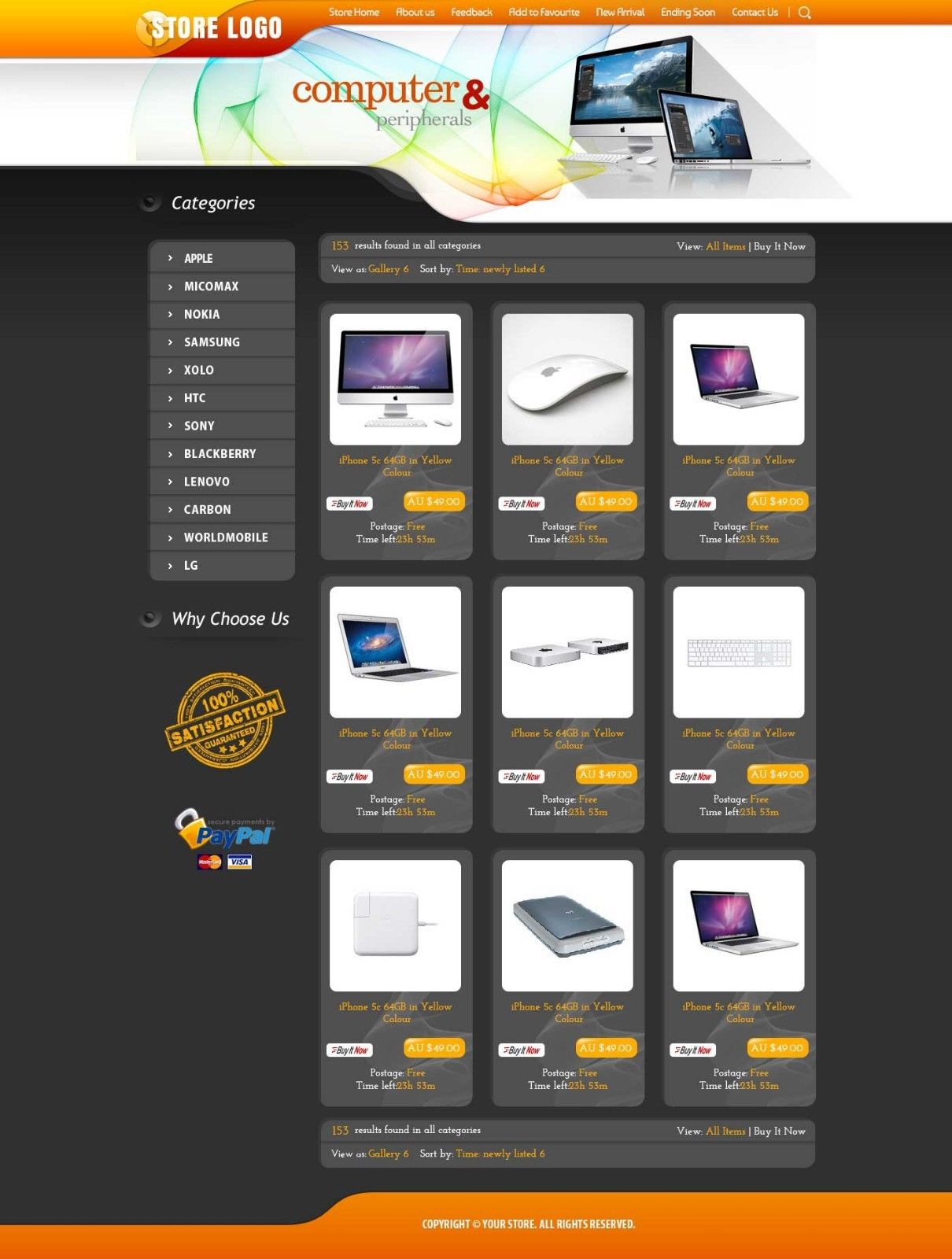 29eBay Shop Design and Listing Auction HTML Templates- Free Setup ...